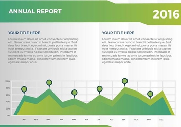 Free Annual Report Vector Presentation 9 - бесплатный vector #379241