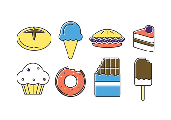 Vector Set of Sweets - vector #379321 gratis