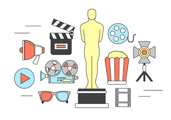 Movie Vector Elements - vector gratuit #379391