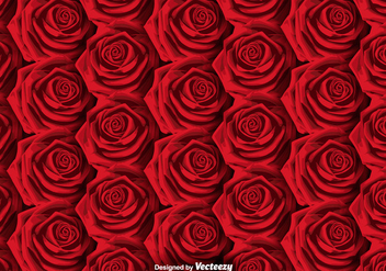 Vector Roses Background - SEAMLESS PATTERN - Free vector #379401