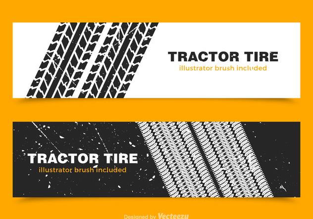 Free Tractor Tire Vector Banners - vector gratuit #379511