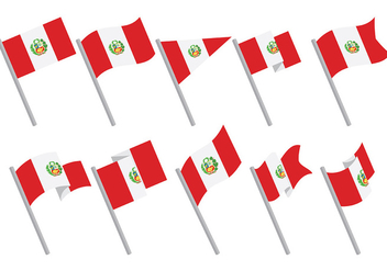 Free Peru Flag Icons Vector - бесплатный vector #379611