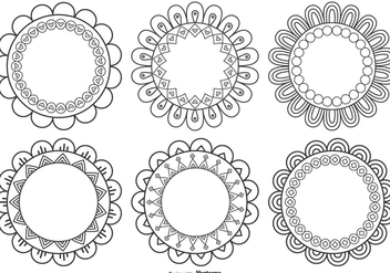 Decorative Flower Shapes - Free vector #379681