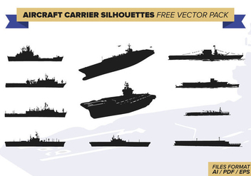 Aircraft Carrier Silhouettes Free Vector Pack - бесплатный vector #379731