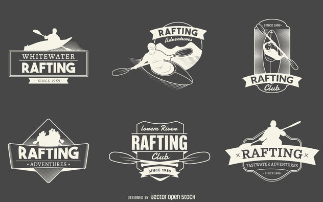 Rafting logo label collection - Free vector #379881