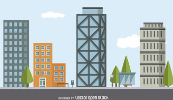 City building illustration - vector gratuit #379991