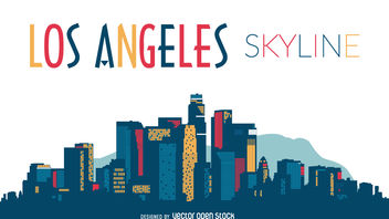 Los Angeles skyline silhouette - бесплатный vector #380081