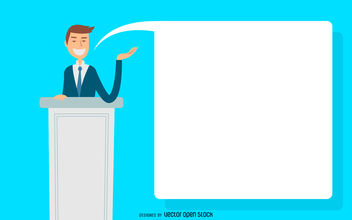 Business man presentation illustration - vector gratuit #380131