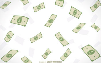 Illustrated falling money - vector gratuit #380151