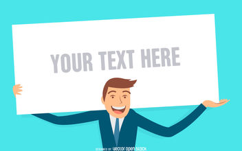 Business man sign illustration - Free vector #380161