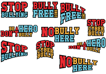 Stop Bullying Vector - Free vector #380291