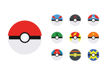Free Poke Ball Vector - бесплатный vector #380301