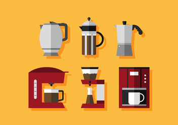 Vector Coffee Maker - vector gratuit #380401