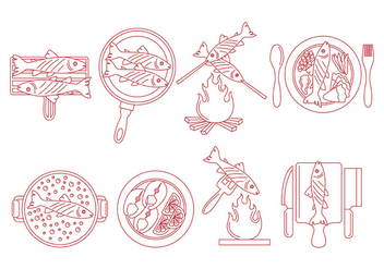Fish Fry Vector Food - Kostenloses vector #380421