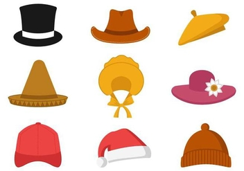 Free Collection of Hat Vector - бесплатный vector #380541