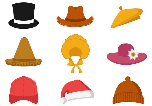 Free Collection of Hat Vector - Free vector #380541