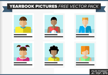 Yearbook Pictures Free Vector Pack - vector gratuit #380551