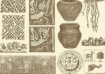 Ancient Peruvian Art - vector gratuit #380591