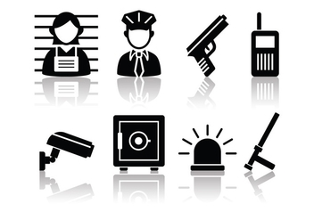 Free Minimalist Police And Crime Icon Set - vector gratuit #380601