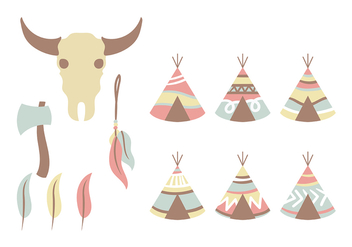 Pastel Tipi Vector Icon - бесплатный vector #380621
