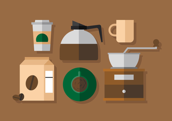Vector Coffee Elements - vector #380651 gratis