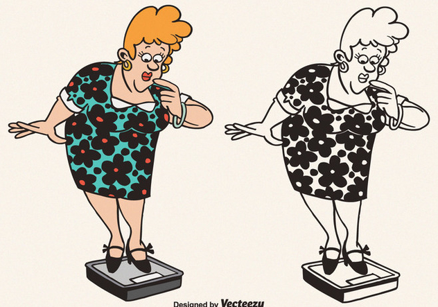 Free Vector Cartoon Fat Woman Illustration - vector #380681 gratis