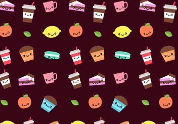 Free Sweets Pattern Vector - бесплатный vector #380731