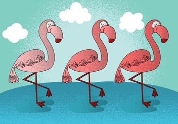 Happy Flamingo Vectors - vector #380771 gratis