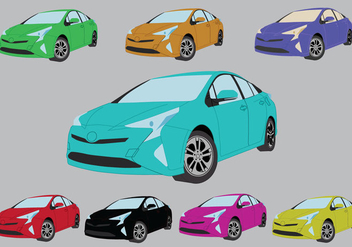Free Prius Colour Icons - Free vector #380981