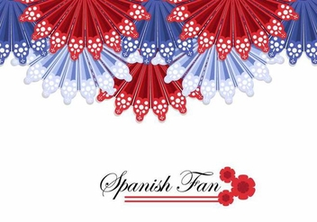 Spanish Fan Background Vector - vector gratuit #381071