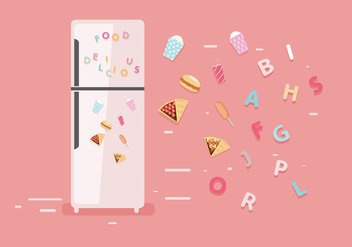 Fridge Magnet Vector - бесплатный vector #381131