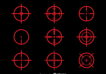 Red Laser tag Vector Set - vector gratuit #381151