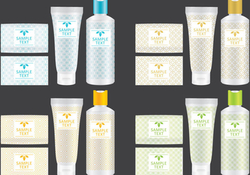 Soap And Shampoo Packaging - бесплатный vector #381241