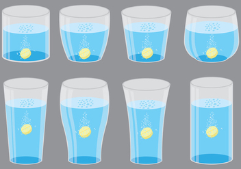 Effervescent Symbols In Glass - Free vector #381311