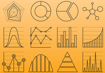 Chart Line Icons - Kostenloses vector #381501