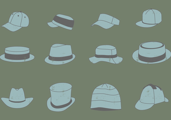 Vintage Headwear Set - Free vector #381561