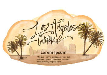 Free Los Angeles Watercolor Vector - vector gratuit #381571