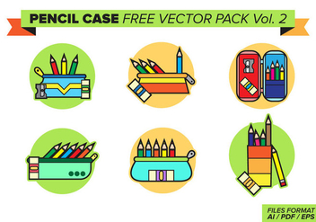 Pencil Case Free Vector Pack Vol. 2 - vector gratuit #381611