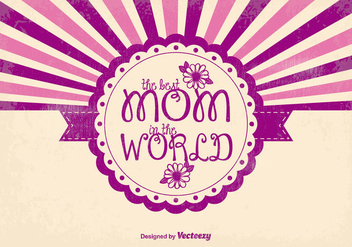 Cute Mother's Day Illustration - vector gratuit #381621