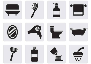 Free Bathroom Icons Vector - Free vector #381681