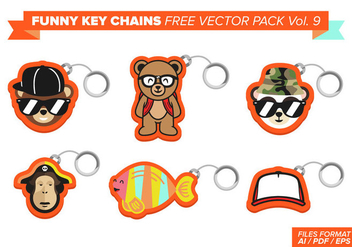 Funny Key Chains Free Vector Pack Vol. 9 - бесплатный vector #381861