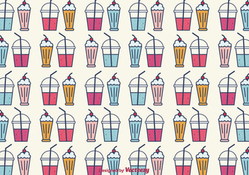 Smoothie and Milkshake Vector Background - vector gratuit #381881