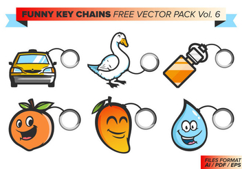 Funny Key Chains Free Vector Pack Vol. 6 - бесплатный vector #381891