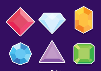 Gem Stone Vector Set - бесплатный vector #381941