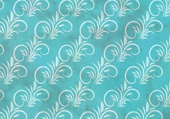 Blue Vector Western Flourish Seamless Pattern - Free vector #382051