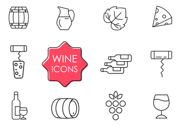 Free Wine Icons - vector gratuit #382061