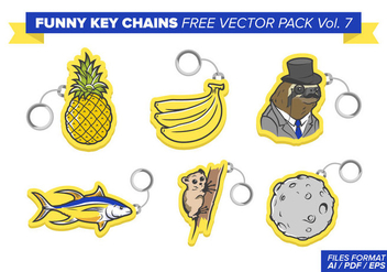 Funny Key Chains Free Vector Pack Vol. 7 - Free vector #382101