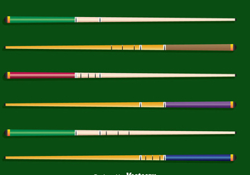 Pool Sticks Collection Vector - vector gratuit #382111