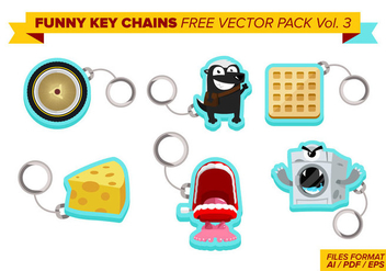Funny Key Chains Free Vector Pack Vol. 3 - Free vector #382121