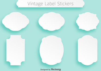 Simple Vector White Flat Cartouches For Badges - vector gratuit #382231